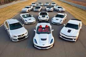 Chevrolet's 14 performance car models ranging from 323 to 625 horsepower.