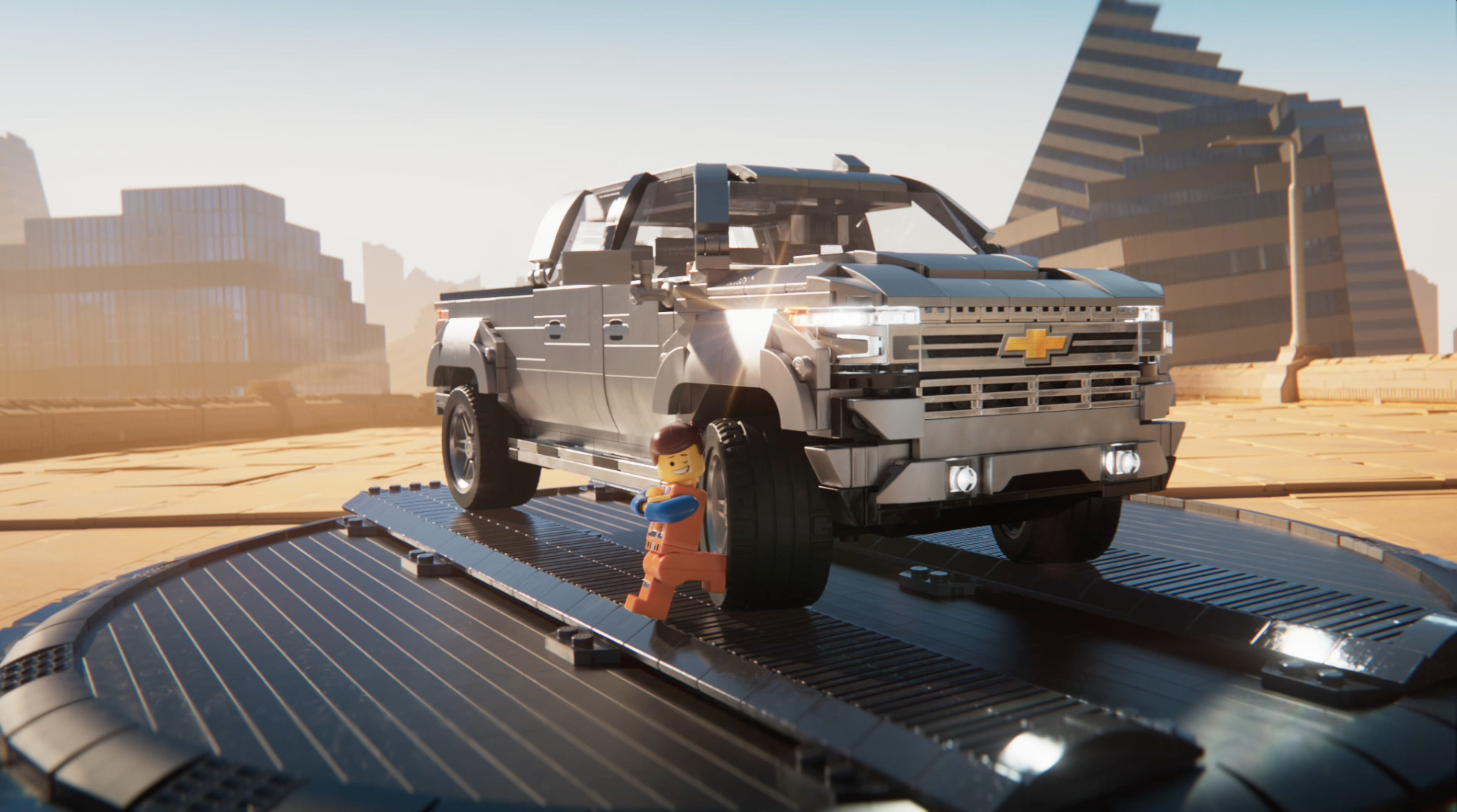 New Chevrolet Campaign Features Emmet And Lucy From The Lego Movie